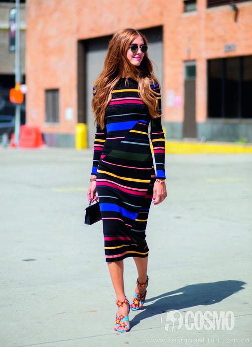 如何将条纹穿出时尚感