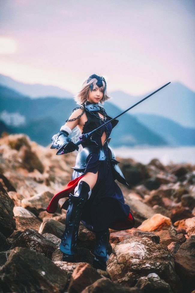cosplay摄影 黑白贞德 战斗服