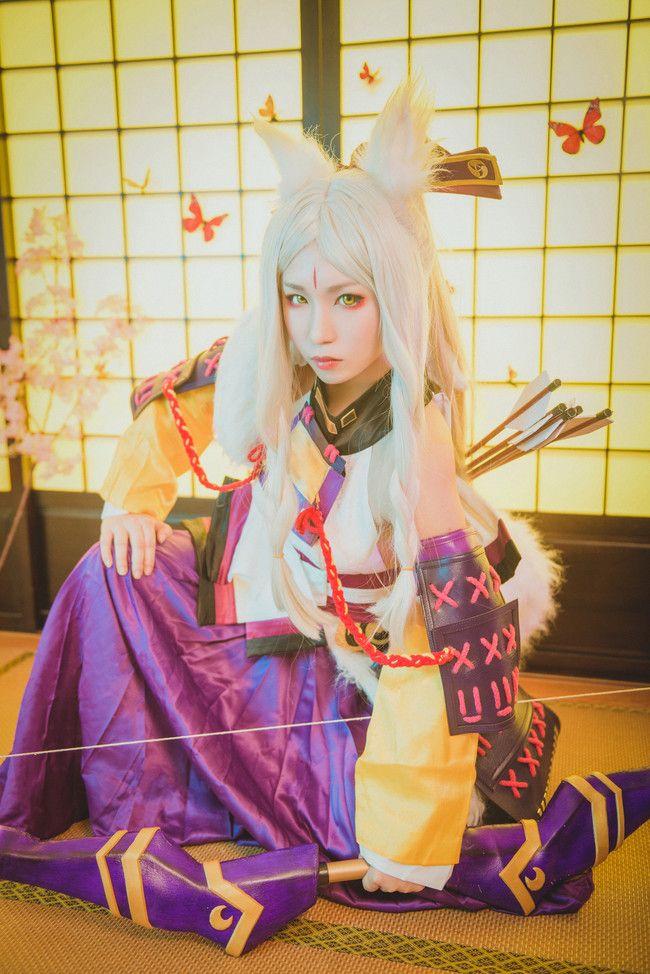 阴阳师 白狼 森林之姬 cosplay动漫女神