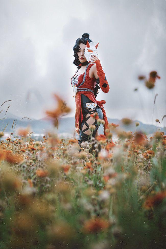 王者荣耀 荆轲 cosplay丰满摄影