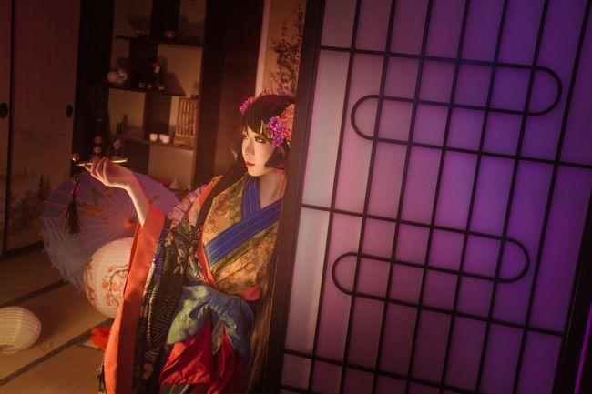 cosplay摄影和服 王者荣耀 孙尚香花魁
