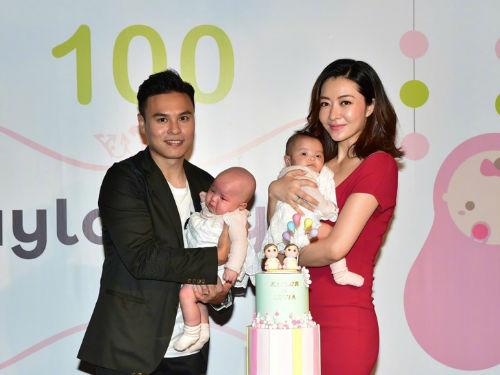 熊黛林为双胞胎女儿举办百日宴 众星现身祝贺